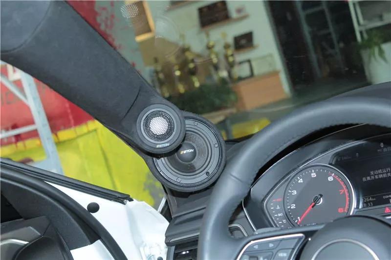 奥迪a4l汽车音响升级德国eton三分频 arc功放 阿尔派0850s dsp